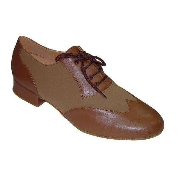 ダンスシューズ・社交ダンスシューズ・メンズ【セミオーダー】男性モダンシューズ・茶ブラウン・コンビ251007セミオーダー品ですのであなたにぴったりの1足がつくれますよ♪