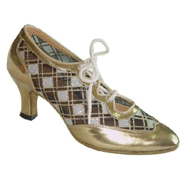 ダンスシューズ・社交ダンスシューズ・レディース【セミオーダー】女性ティーチャーズシューズ・ゴールド682305セミオーダー品ですのであなたにぴったりの1足がつくれますよ♪
