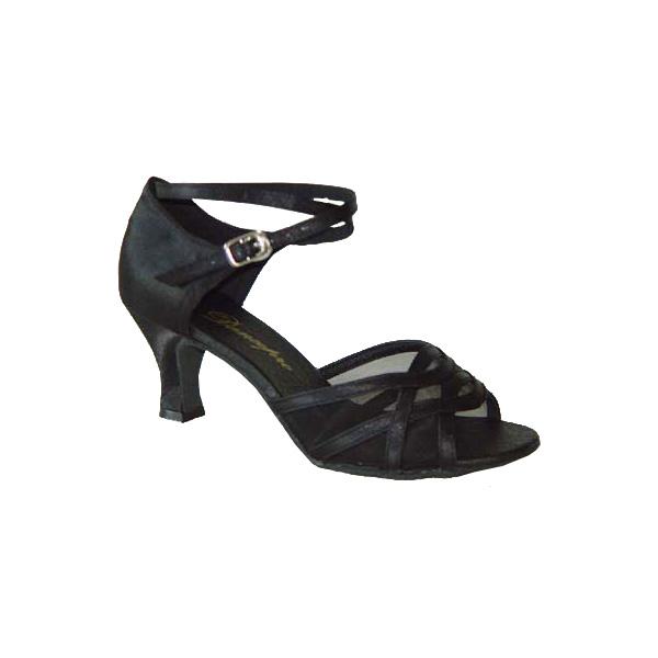 ダンスシューズ・社交ダンスシューズ・レディース【セミオーダー】女性ラテンシューズ・黒ブラック165501セミオーダー品ですのであなたにぴったりの1足がつくれますよ♪