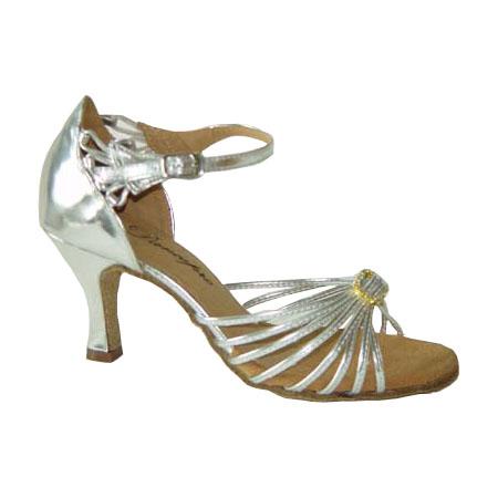 ダンスシューズ・社交ダンスシューズ・レディース【セミオーダー】女性ラテンシューズ・シルバー167106セミオーダー品ですのであなたにぴったりの1足がつくれますよ♪