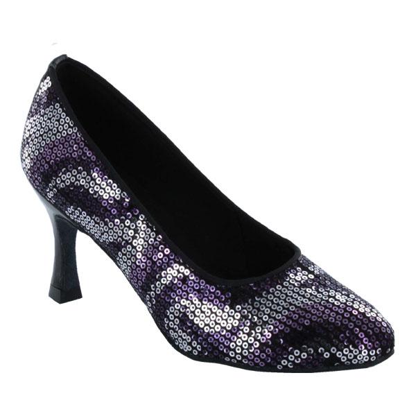 ダンスシューズ・社交ダンスシューズ・レディース【セミオーダー】女性モダンシューズ・紫パープル680120セミオーダー品ですのであなたにぴったりの1足がつくれますよ♪