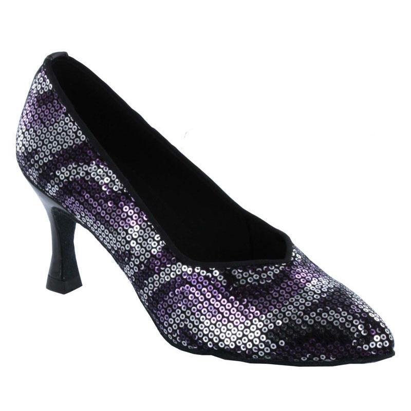 ダンスシューズ・社交ダンスシューズ・レディース【セミオーダー】女性モダンシューズ・紫パープル690310セミオーダー品ですのであなたにぴったりの1足がつくれますよ♪