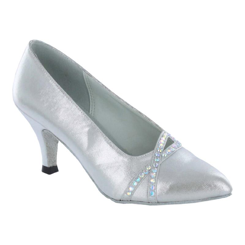 ダンスシューズ・社交ダンスシューズ・レディース【セミオーダー】女性モダンシューズ・シルバー691305セミオーダー品ですのであなたにぴったりの1足がつくれますよ♪