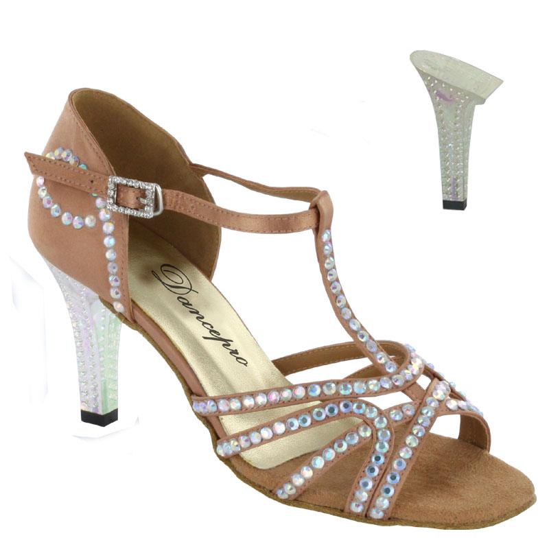 ダンスシューズ・社交ダンスシューズ・レディース【セミオーダー】女性ラテンシューズ・ベージュ173603セミオーダー品ですのであなたにぴったりの1足がつくれますよ♪