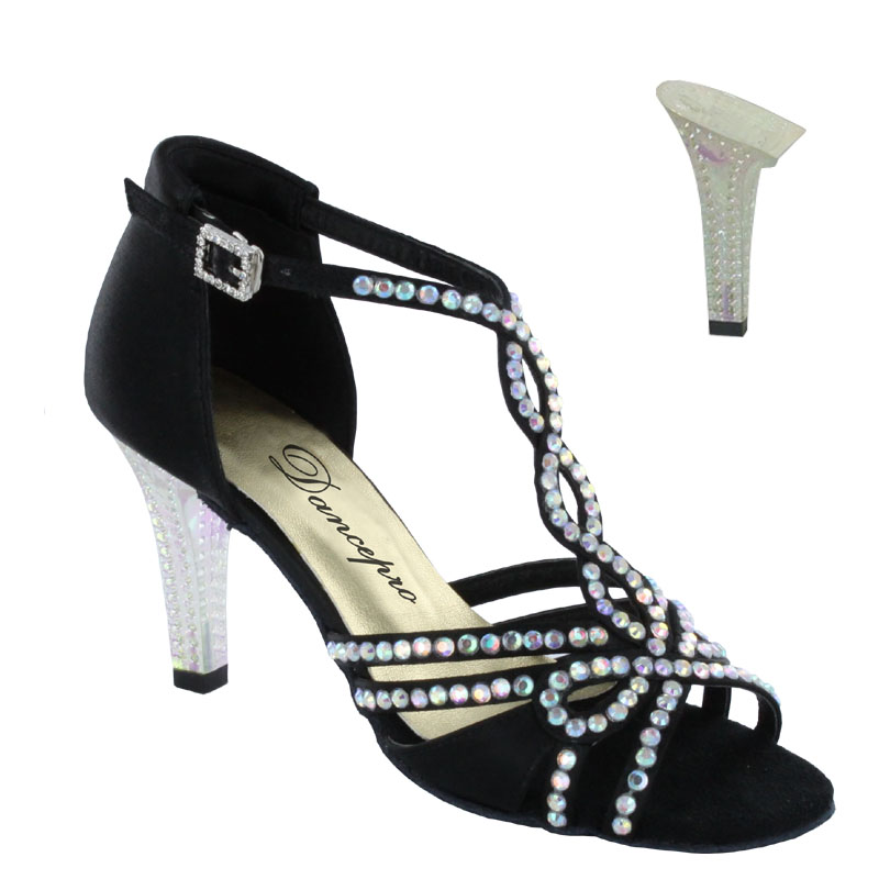 ダンスシューズ・社交ダンスシューズ・レディース【セミオーダー】女性ラテンシューズ・黒ブラック173902セミオーダー品ですのであなたにぴったりの1足がつくれますよ♪