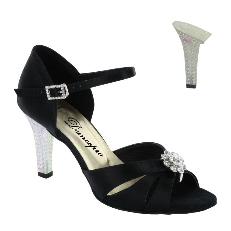 ダンスシューズ・社交ダンスシューズ・レディース【セミオーダー】女性ラテンシューズ・黒ブラック174402セミオーダー品ですのであなたにぴったりの1足がつくれますよ♪