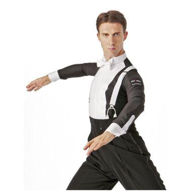 イカ胸シャツ MS281 タカダンスファッション phiten 社交ダンス 競技 デモ 燕尾 服 用 進化 系 ストレッチ レボリューション ボール ルーム シャツ