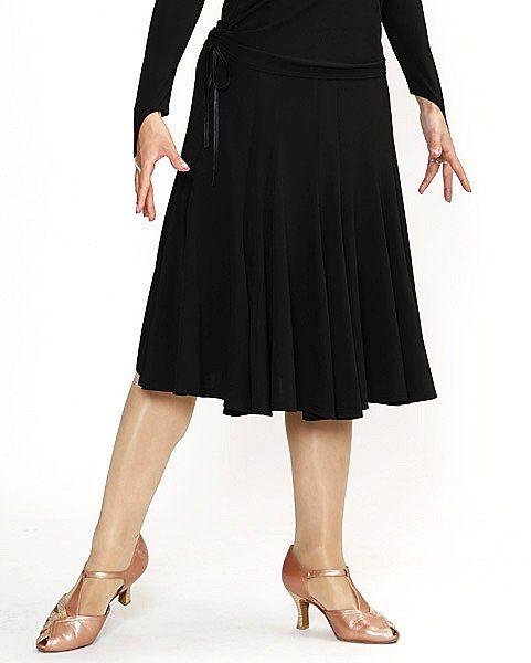 ラテン スカート(M)No.760 パピヨン 15枚はぎ 黒  社交ダンス レッスン パーティー 検定 踊る ラテン スカート