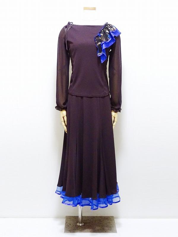 【新入荷】セットアップ (M) C105N105 リンド   社交ダンス パーティー向け 上下セット 衣装 チョコレート