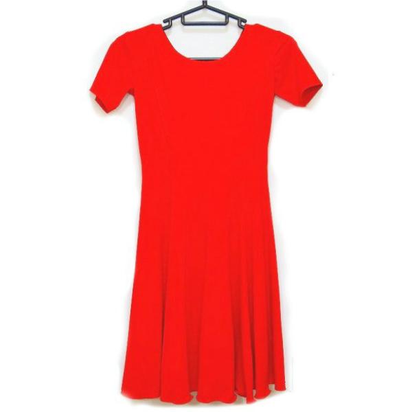 【新入荷】ワンピース 社交ダンス ジュニア ジュブナイル 衣装  No.06 半袖 タイプ 140cm用 赤 パピヨン