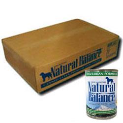 ナチュラルバランス ベジタリアン缶 13オンス×24缶(369gx24缶)[ 取寄せ商品 ドッグフード ウェットフード アレルギーケア NaturalBalance ]