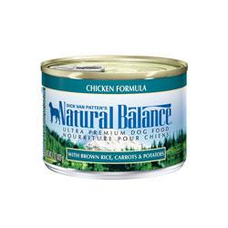 ナチュラルバランス チキン&ブラウンライス缶 6オンスx24缶 (170gx24缶) [ 取寄せ商品 ドッグフード ウェットフード 全年齢用 NaturalBalance ]