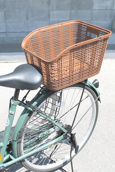 キャッシュレス5%還元【OGK】自転車用後ろかご 取手付リアバスケット RB-005