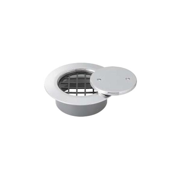 VP・VU兼用ツバ付掃除口 網付 MK132FWN-150 寸法:150