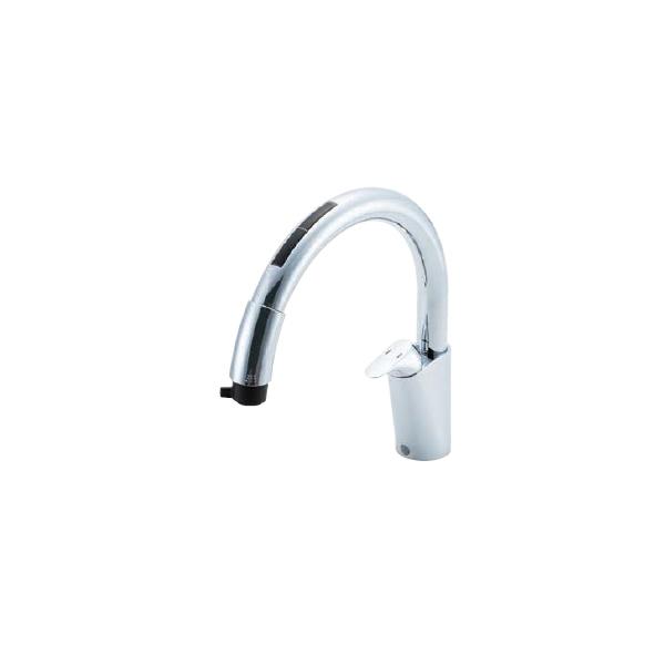 キッチン用タッチレス水栓 ナビッシュ ハンドシャワー シングルレバー (浄水器ビルトイン型) JF-NB466SXU(JW)
