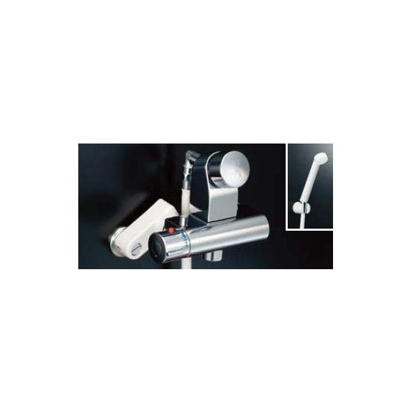 男女兼用 BF-2241TSD:ダンドリープロ店 パブリックバス水栓 洗い場専用セルフストップ付シャワー水栓・サーモスタット-木材・建築資材・設備