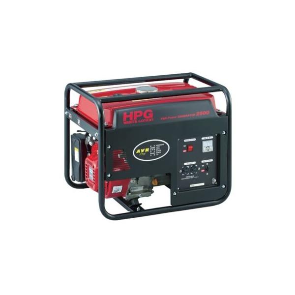 衝撃特価 オープン型インバータ発電機(交流専用) HPG2500-5 定格出力(kVA):2.0:ダンドリープロ店-DIY・工具
