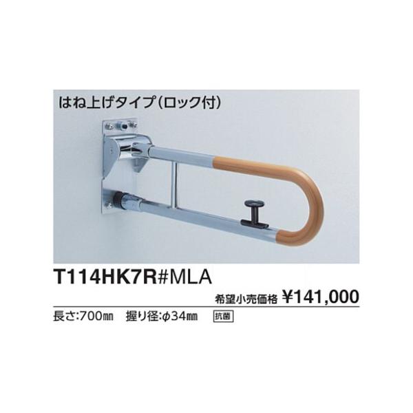 パブリック用手すり 腰掛便器用手すり(可動式) CAD 3D-C T114HK6R#NW1 L(mm):600