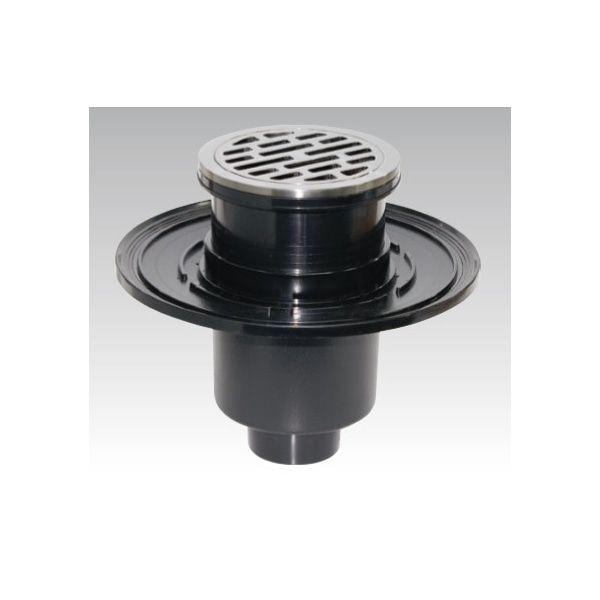 樹脂製防水型 床排水トラップ D-5B-PU-N(SUS316) 目皿部・金具枠:SUS316、受注生産品