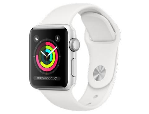 [新品][シュリンク破れ有] Apple Watch Series 3 GPSモデル 38mm MTEY2J/A [ホワイトスポーツバンド] アップルウォッチ 4549995043365