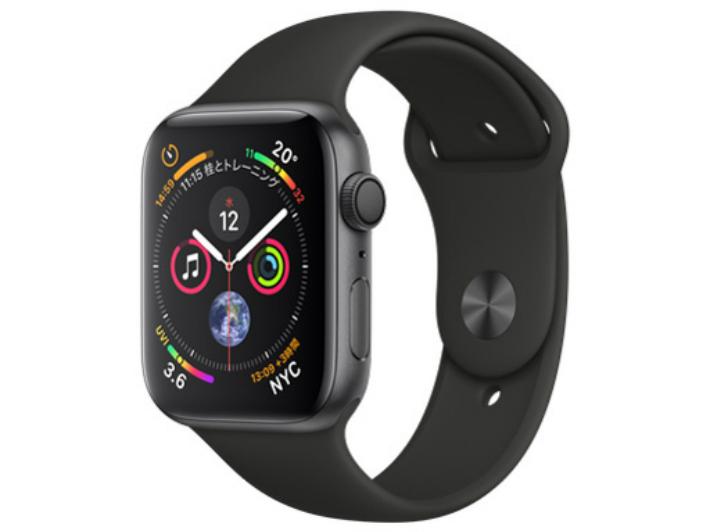 【5%還元対象】[新品] Apple Watch Series 4 GPSモデル 44mm MU6D2J/A [ブラックスポーツバンド] アップルウォッチ 4549995045505