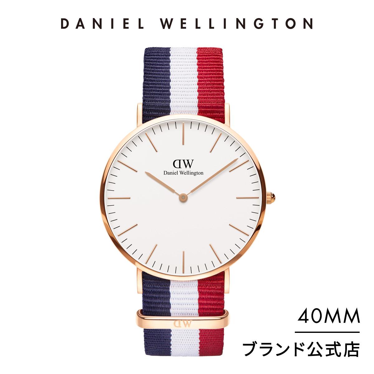 【公式2年保証/送料無料】ダニエルウェリントン公式 メンズ 腕時計 Classic Cambridge 40mm Nato ストラップ クラシック ケンブリッジ DW プレゼント おしゃれ インスタ映え ブランド 彼女 彼氏 ペアスタイルに最適 ウォッチ クリスマス