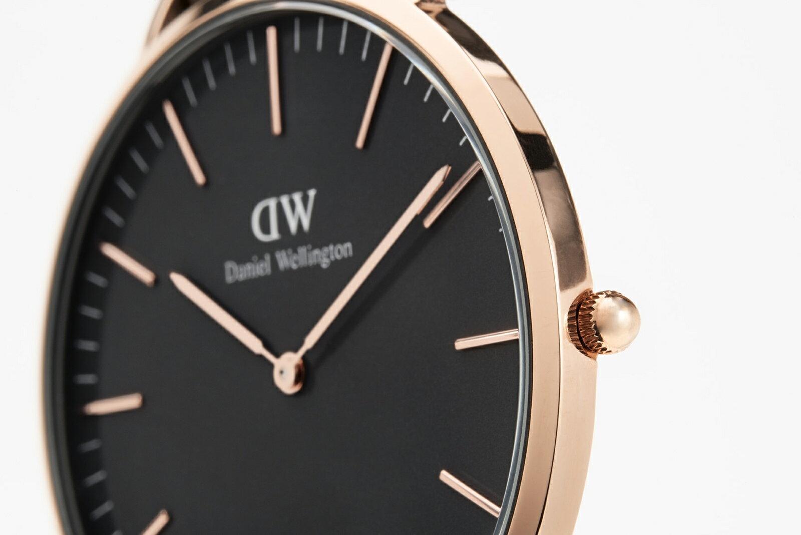 【公式2年保証/】ダニエルウェリントン公式 レディース/メンズ 腕時計 Classic Black St Mawes 36mm 革 ベルト クラシック ブラック セント モース DW プレゼント おしゃれ インスタ映え ブランド 彼女 彼氏