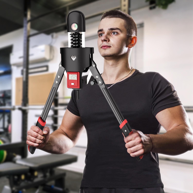 アームバー 筋トレグッズ 代引き不可 筋トレ器具 セール特価 0-180キロ 力のレベルを自由に調整可能 電子計数 日本語取扱説明書付き 大胸筋 筋肉 一年品質保証 上腕二頭筋 トレーニング器具