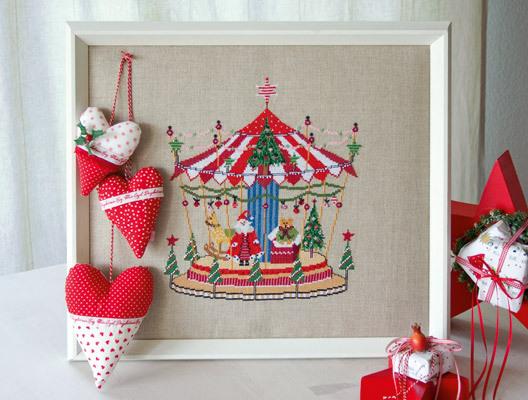 クリスマスのメリーゴーランド