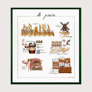 La Bonhour Des Dames社 新作 人気 の輸入クロスステッチキット ブレッド 当店一番人気 フランス