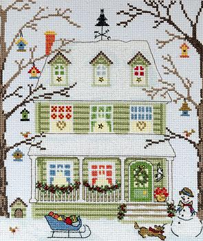 Bothy Threads社 イギリス 贈り物 の輸入クロスステッチキット (訳ありセール 格安) Homes: New England