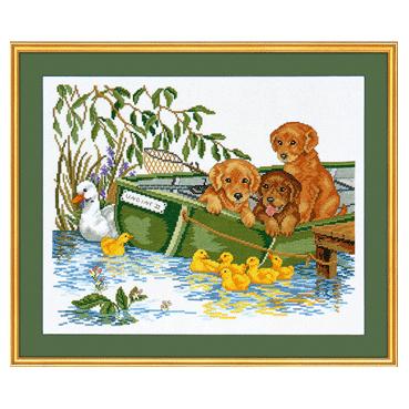 子犬とボート