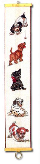 Eva Rosenstand社 正規品送料無料 デンマーク サービス 子犬のベルプル の輸入クロスステッチキット