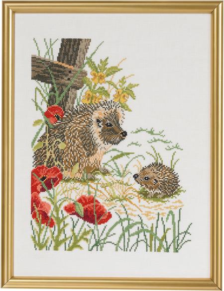 Eva Rosenstand社 デンマーク 正規取扱店 2020春夏新作 の輸入クロスステッチキット poppies and Hedgehogs