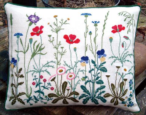 フレメ クロスステッチ 刺繍キット 【EDGE OF A DITCH】 野の花 デンマーク 輸入ししゅうキット