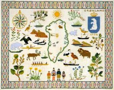 フレメ クロスステッチ 刺繍キット 【グリーンランド】 デンマークの世界 デンマーク 輸入ししゅうキット