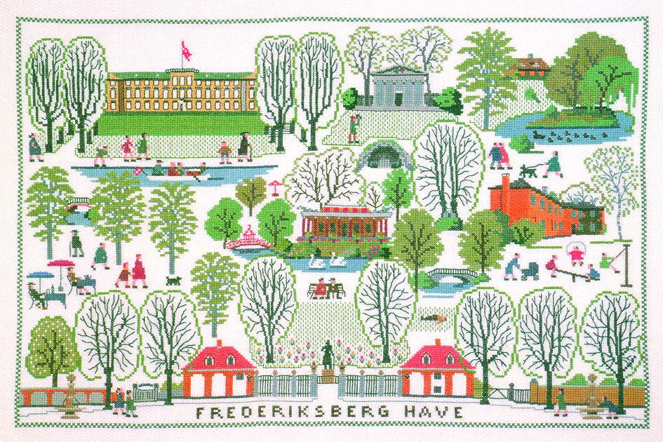 フレメ クロスステッチ 刺繍キット 【フレデリクスビャーグ】 デンマークの世界 デンマーク 輸入ししゅうキ