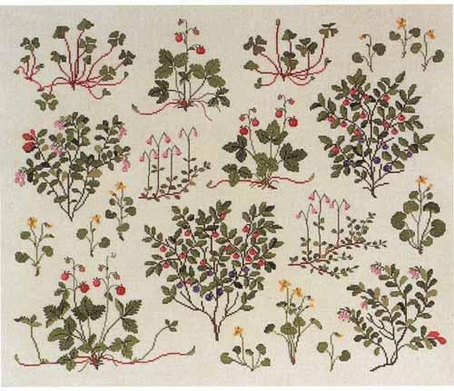 フレメ クロスステッチ 刺繍キット 【ベリー 】 野の花 デンマーク 輸入ししゅうキット