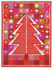 クロスステッチ 花糸 リネン 初心者 中級者向き 贈呈 フレメ 刺繍キット HEAVEN 輸入ししゅうキット 授与 RED クリスマス STAR デンマーク