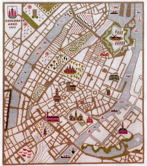フレメ クロスステッチ 刺繍キット 【コペンハーゲンの地図】 デンマークの世界 デンマーク 輸入ししゅうキット