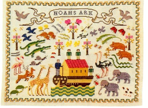 フレメ クロスステッチ 刺繍キット 【ノアの箱船 】鳥と動物 デンマーク 輸入ししゅうキット