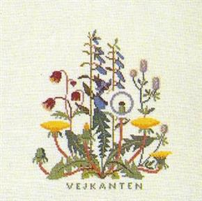 クロスステッチ 花糸 引き出物 リネン 中級者 上級者向き 2020新作 フレメ デンマーク 刺繍キット VEJKANYEN 輸入ししゅうキット 野の花
