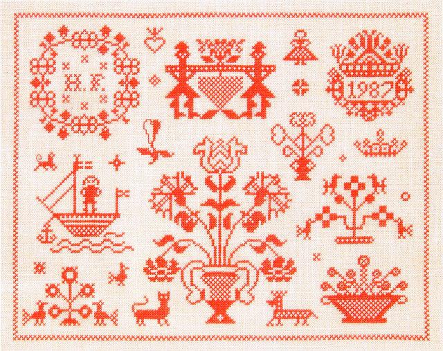 フレメ クロスステッチ 刺繍キット 【RED SAMPLER】 デンマークの世界 デンマーク 輸入ししゅうキット