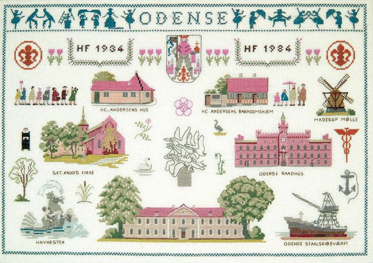 フレメ クロスステッチ 刺繍キット 【オーデンセ】 デンマークの世界 デンマーク 輸入ししゅうキット