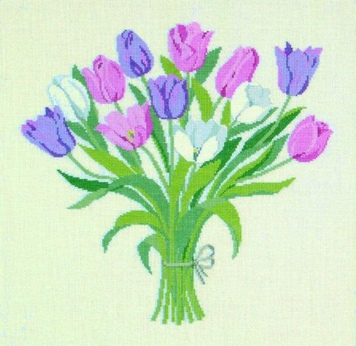 フレメ クロスステッチ 刺繍キット 【チューリップのブーケ】花と樹木 デンマーク 輸入ししゅうキット