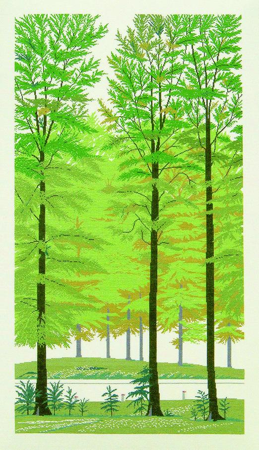 フレメ クロスステッチ 刺繍キット 【ブナの森】花と樹木 デンマーク 輸入ししゅうキット