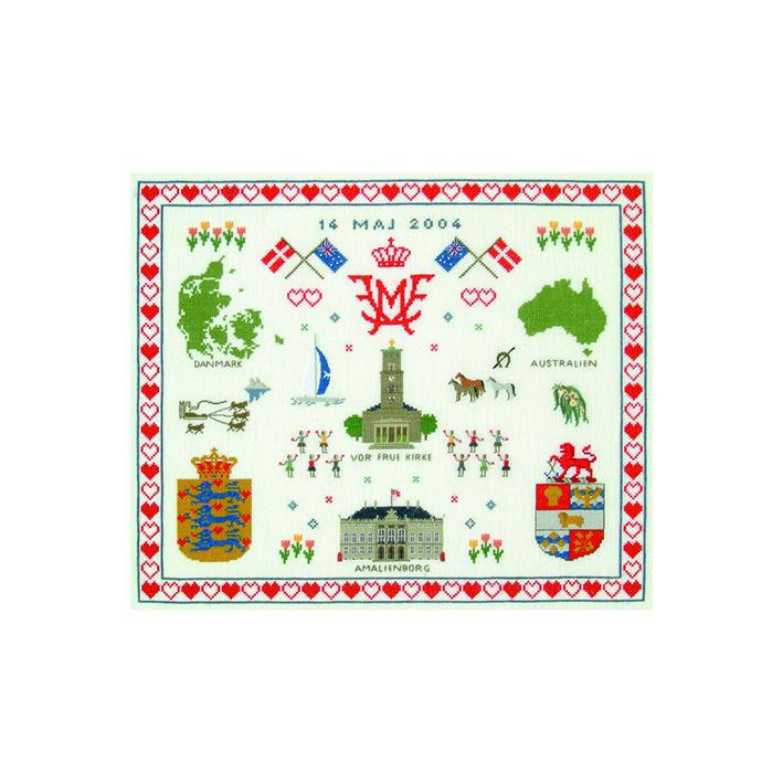 フレメ クロスステッチ 刺繍キット 【サンプラー】 デンマークの世界 デンマーク 輸入ししゅうキット