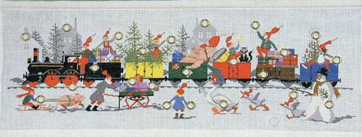 フレメ クロスステッチ 刺繍キット 【クリスマストレイン】 クリスマス デンマーク 輸入ししゅうキット
