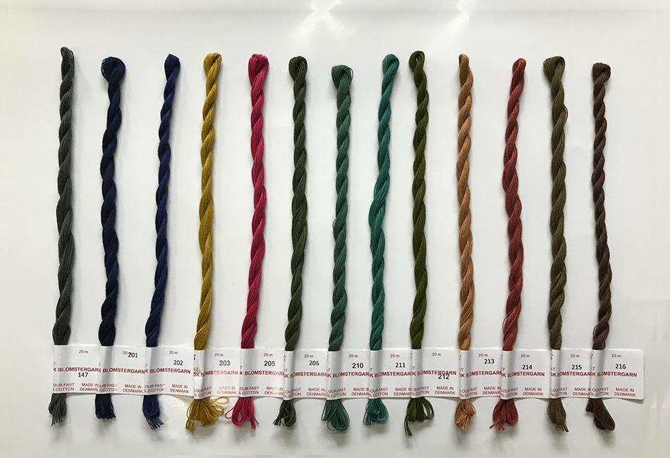 フレメ社 デンマーク ハイクオリティ の花糸 フレメ刺繍糸147から216 オンラインショッピング 刺繍糸です