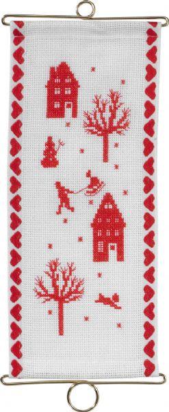 Permin社 デンマーク 贈物 品質保証 クリスマスのベルプル の輸入クロスステッチキット
